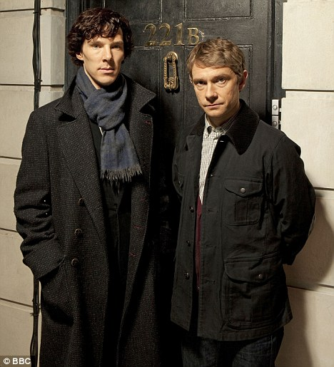 He'll be back: The BBC have confirmed that Sherlock, starring Benedict Cumberbatch and Martin Freeman, will return for a new series next year
