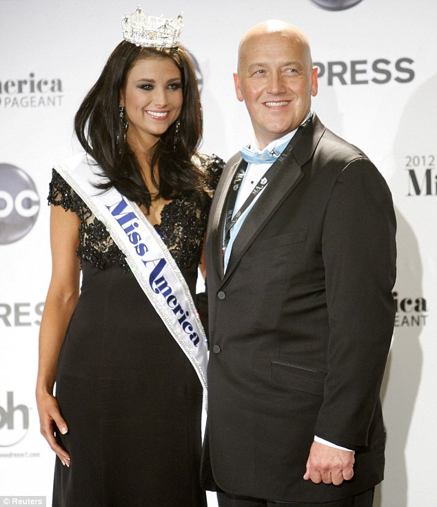 Inspiration: New Miss America Laura Kaeppeler has revealed her father's Jeff's 18-month jail term for mail fraud was the focus of her campaign in the competition