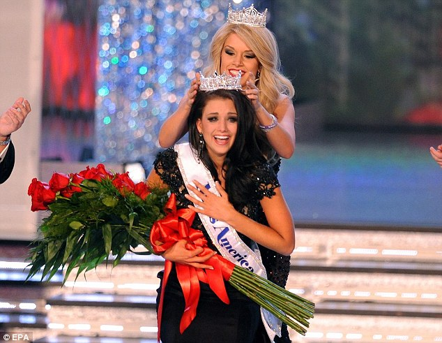 Winner: The moment Miss Kaeppeler was crowned Miss America live on television