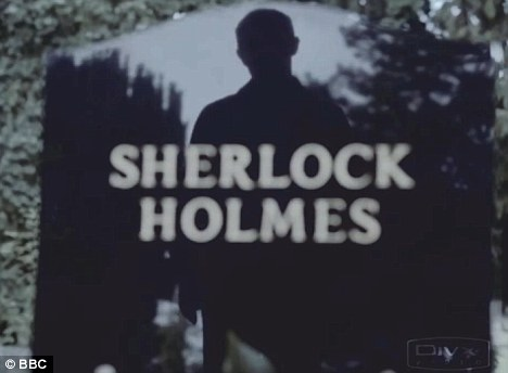 Cliffhanger: It had appeared that Holmes had died on Sunday night's episode, when Watson was seen standing by his graveside