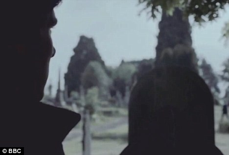 He's still alive! But the closing shot of the episode saw Holmes watching Watson by his grave