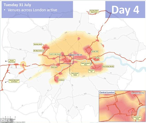 Day four: Events taking place across the city