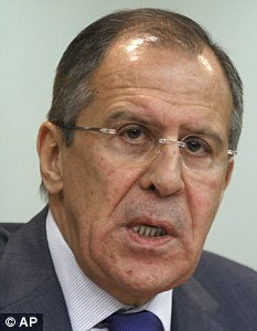 Russian Foreign Minister Sergey Lavrov said his country would step in if western powers attempted to secure sanctions to use force against Syria