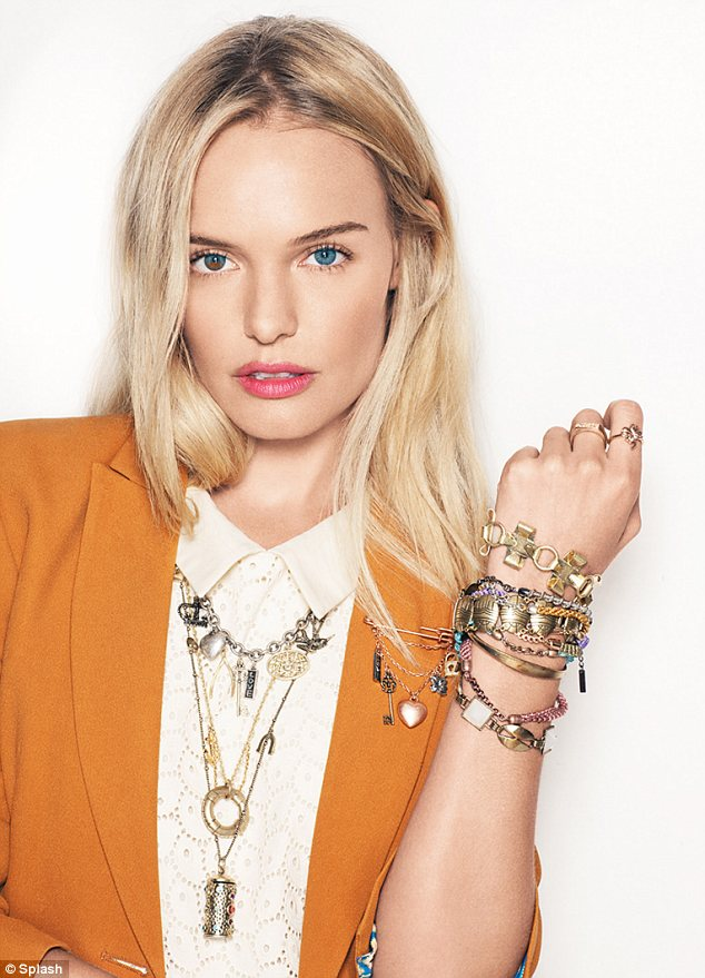 Bling bling: The actress is marketing her own range of rings, bracelets and necklaces