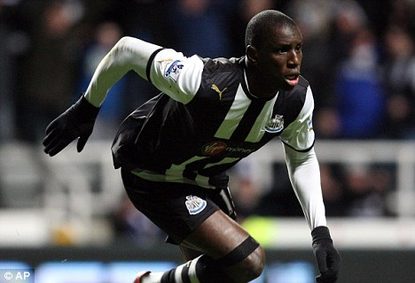Making his mark: Cisse's international team-mate Demba Ba has been a big hit on Tyneside