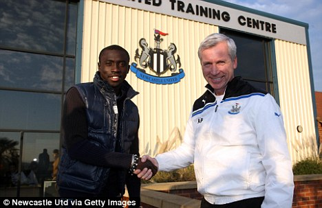 Getting his man: Alan Pardew was delighted to sign Papiss Demba Cisse