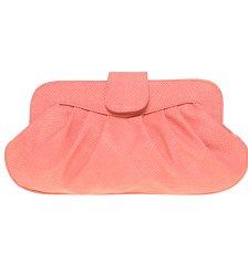 Peach clutch bag, £18, asos.com