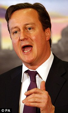 Pledge: David Cameron said Britain should urge the international community to step up sanctions against Syria