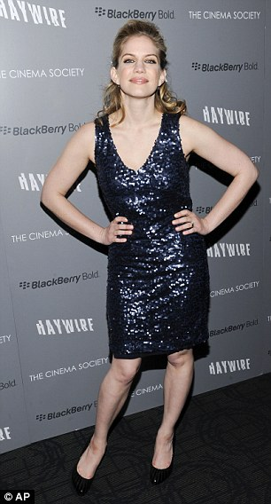 Looking good: My Girl actress Anna Chlumsky and rising star Louisa Krause also arrived to see the movie