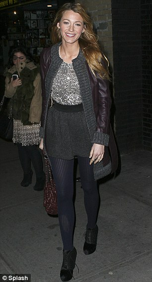 Happy go Lively: Blake leaves the building after sparkling at the Haywire event