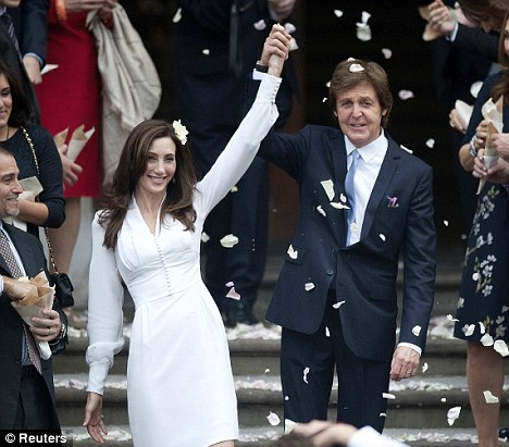 The happy couple: Macca and Nancy got married in London last year