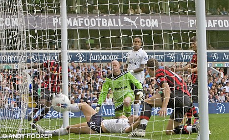 Five-star performance: Man City put Tottenham to the sword earlier this season