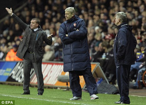 Top of the pile: Wenger insists Arsenal remain one of the league's top teams