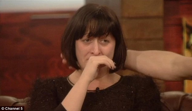 Tears: Natalie Cassidy was one of the celebs who burst out crying when she received a letter from her loved ones at home