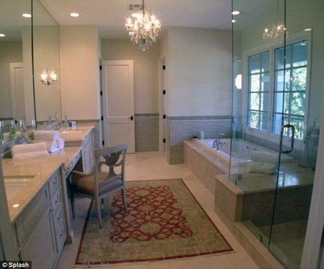 Not so scary bathroom: The marble decorated room offers all the facilities a girl needs to keep keep clean