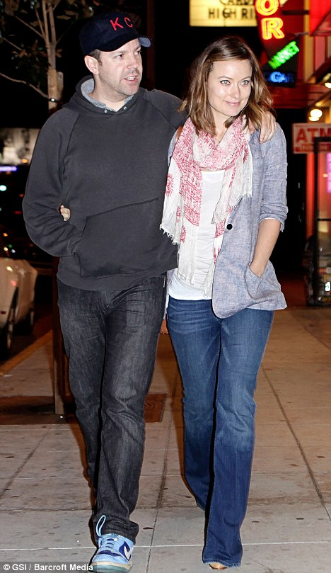 Comfortable: The twosome donned casual gear as they went for dinner in West Hollywood the day before