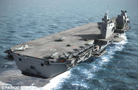 Latest project: Large parts of HMS Queen Elizabeth are being built in Portsmouth