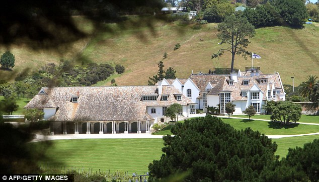 Mansion: Cars and artwork were seized by authorities on request from the FBI from Dotcom's sprawling home in Coastville, Auckland
