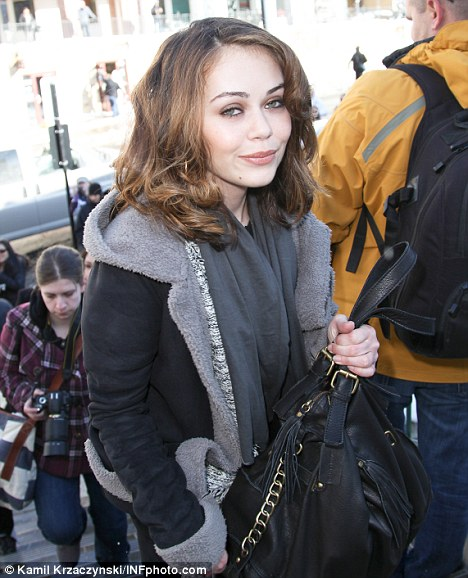 Out and about: Actress Alexis Dziena is spotted around town in Park City