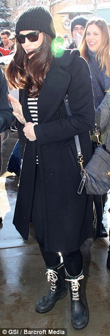 Wrapped up warm: Liv Tyler