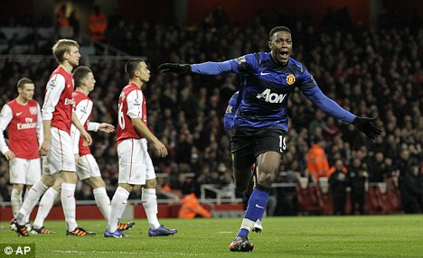 Winner: Danny Welbeck's late strike settled things at Emirates Stadium