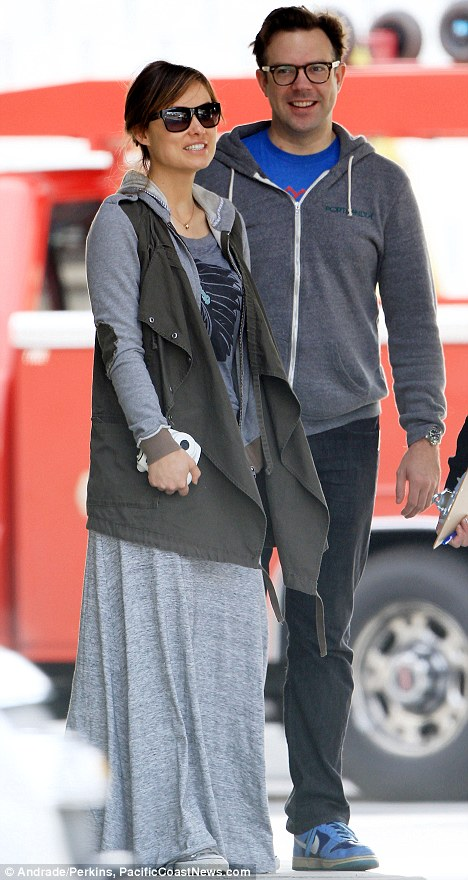 Wilde romance: Jason Sudeikis and new girlfriend Olivia Wilde had a special guest during their Palm Springs, California trip on the weekend