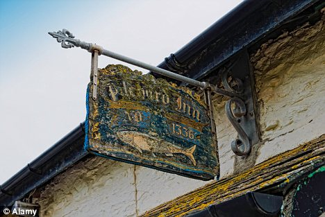 The historic Pilchard Inn in Burgh Island in Devon is cut off from the mainland by the tide