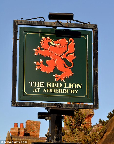 The Red Lion is the most common name for a pub in Britain