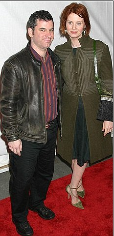 Old flame: Cynthia with her previous partner Danny Mozes