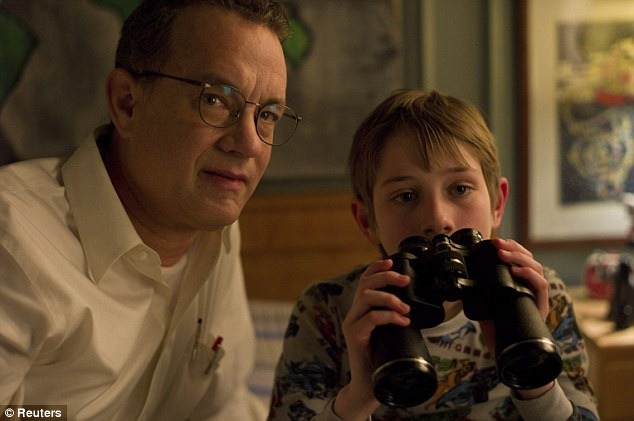 9/11 nod: Tom Hanks and Thomas Horn seen here in a scene from ene from Extremely Loud & Incredibly Close which is up for Best Picture