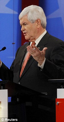 Measuring up: Romney donated 16 per cent of his income to charity in 2010 and 2011, compared to Newt Gingrich's 2.6 per cent
