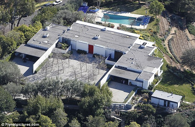 Sprawling: The property has four bedrooms, six bathrooms and even a vineyard