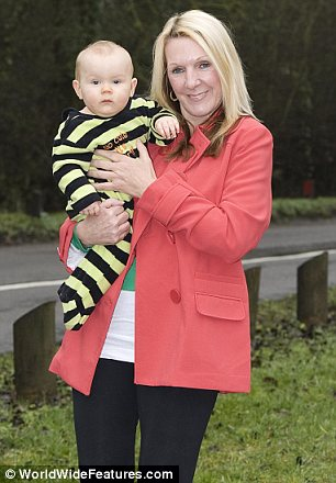 53 year old Debbie Hughes from Daventry, Northants, with her 9 month old son Kyle