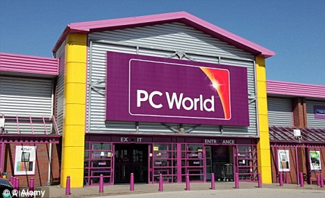 Violence: Doherty and his cousin were involved in a fight outside a PC world, similar to this one, in Manchester