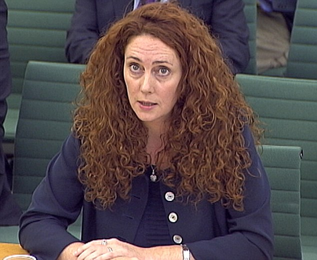 Probe: Mrs Brooks appears before a parliamentary committee on phone hacking in July last year. She was editor of the News of the World at the time it was alleged reporters from the newspaper hacked into the mobile phone of murdered schoolgirl Milly Dowler