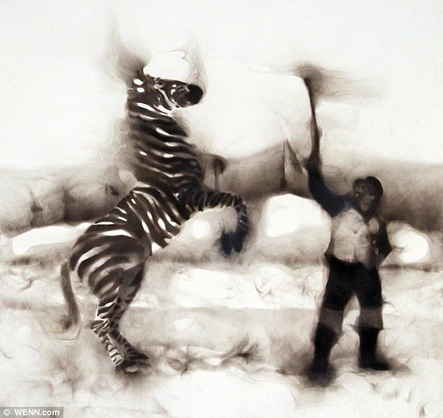 Swami Noah with Zebra: Rob has been using smoke as an artform since 2007