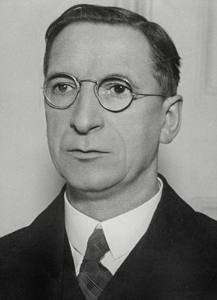 Hard attitude: Eamon de Valera made the gesture of publicly offering his condoloences to the German government over the death of Hitler