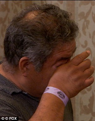 Enough to make a grown man cry: Ramiro's father could not help himself from bursting into tears