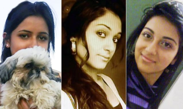 Killed by their family: Prosecutors said, from left, Geeti, Zainab and Sahar Shafia were murdered in an honour killing because they would not comply with the family's strict disciplinary rules