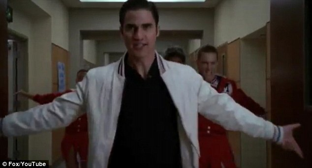 Pretty Young Thing: Criss showed off his dancing and singing prowess in the corridors of McKinley High school