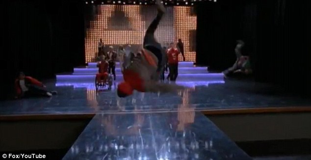 Rock with you: Some cast members performed a series of somersaults during the song