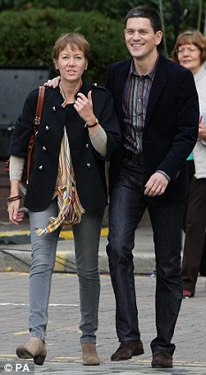 David Miliband out strolling with wife and shareholder Louise Shackleton