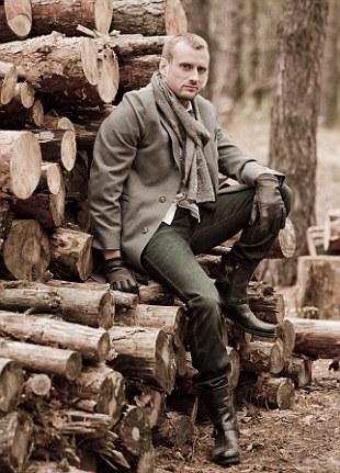 Photographer Francis poses for a photo near Kiev