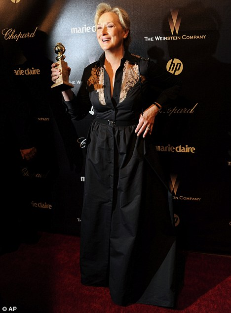 Still winning: The actress took home a Best Actress award at the Golden Globes on January 15