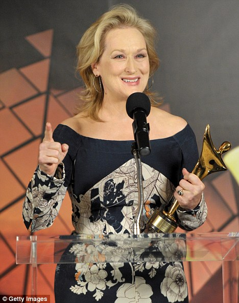 Award winner: Streep has been nominated for her 17th Academy Award