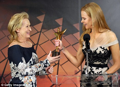 From one winner to another: Nicole Kidman presented Streep with her AACTA award