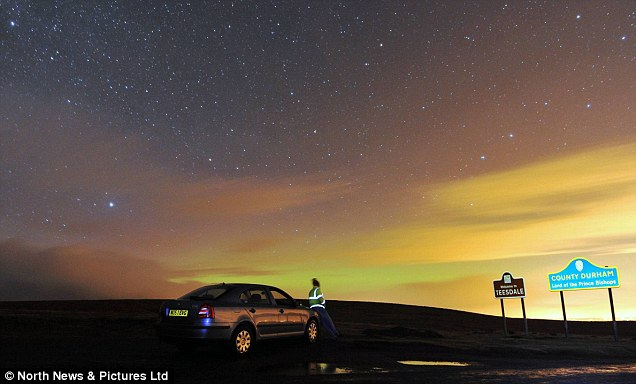 A breathtaking free light show on the Pennine moorland at the County Durham-North Yorkshire border early last week