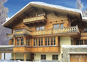 Lap of luxury: The chalet Prince Andrew is staying at in Klosters features its own chef, chauffeur, sauna and steamroom