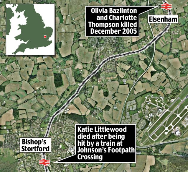 Where the deaths on crossings have taken place