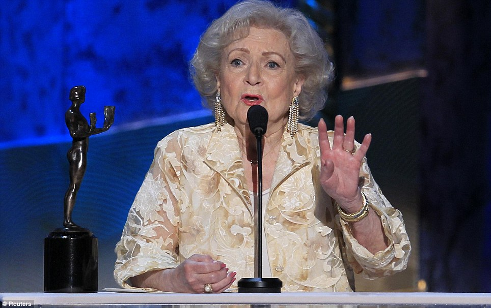 Golden Girl: Betty White took home the award for her work in Hot in Cleveland for the second year in a row